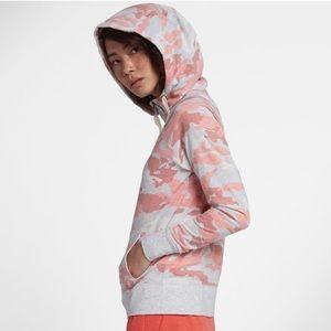 Nike sz.XL camo gym vintage pink hoodie sweatshirt